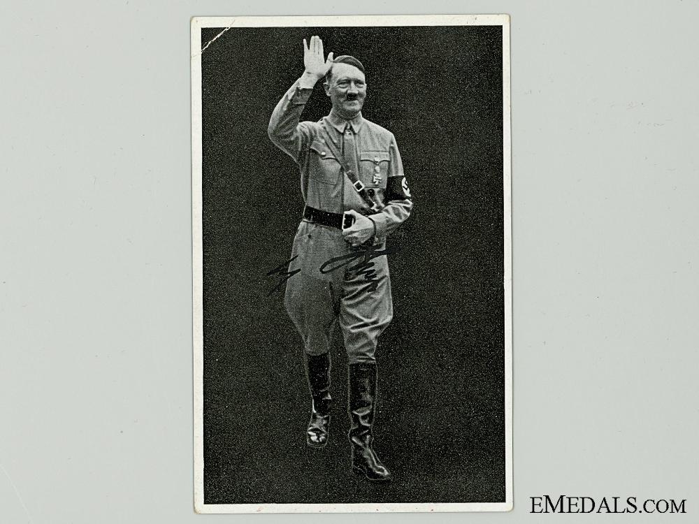 eMedals-An AH Signature on Czech Postcard