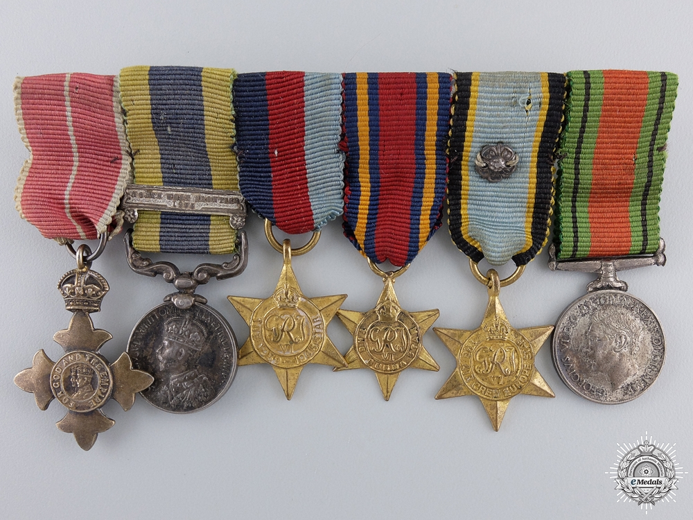 eMedals-An Air Crew Europe & MBE Miniature Medal Group