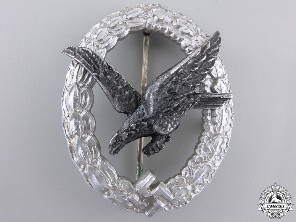 eMedals-An Air Gunner Badge without Lightning in Aluminum by Assmann