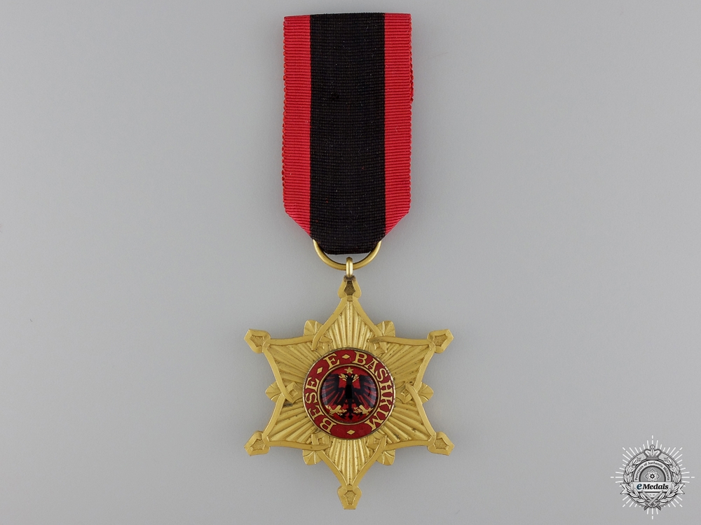 eMedals-An Albanian Order of the Black Eagle; Officer's Cross