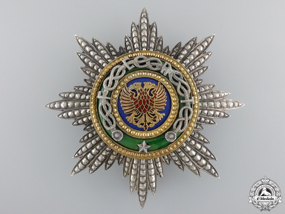 eMedals-An Albanian Order of Skanderbeg; Grand Officer Breast Star