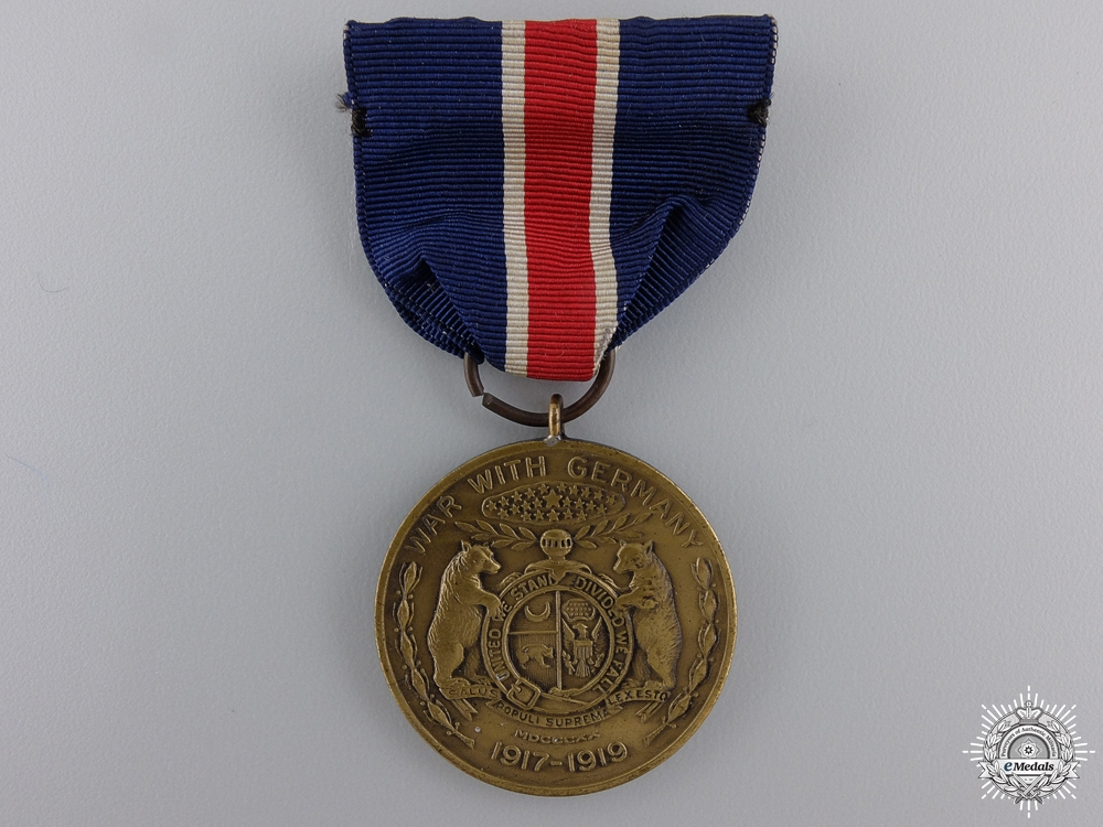 eMedals-An American  First War Missouri National Guard Service Medal 1917-1919