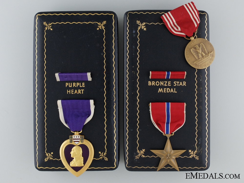 eMedals-United States. A Bronze Star & Purple Heart Group to Russell Broadnix