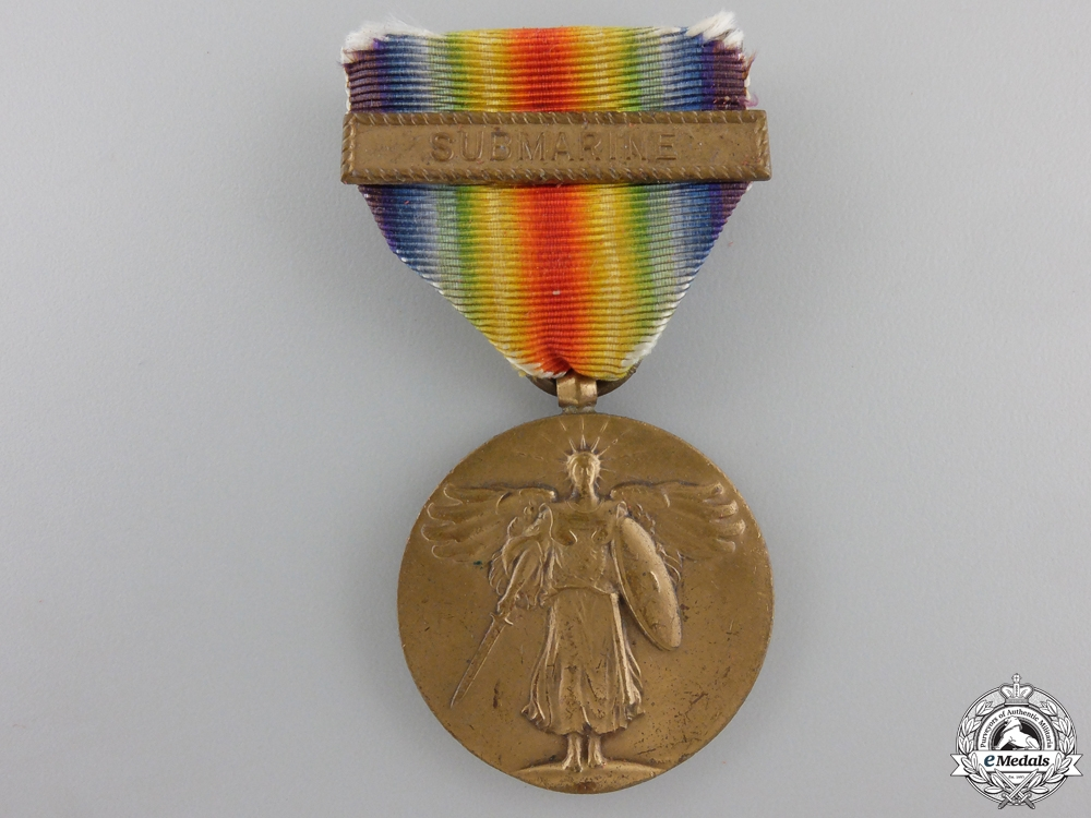 eMedals-An American First War Victory Medal; Submarine Service