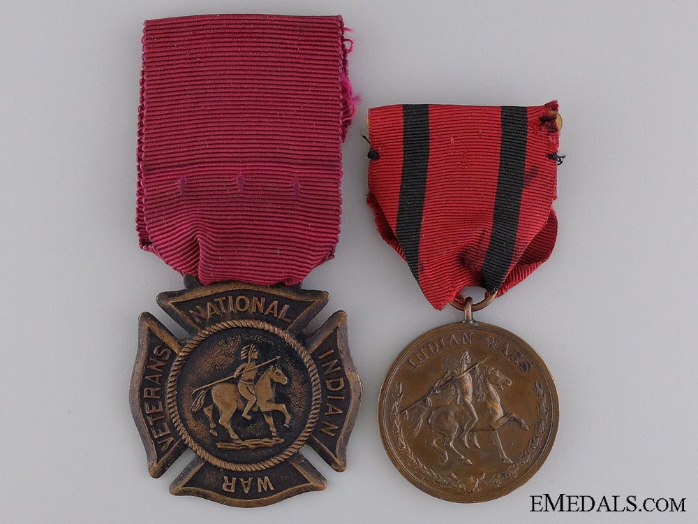 eMedals-An American Indian Wars Pair to James Hackett; 3rd Infantry