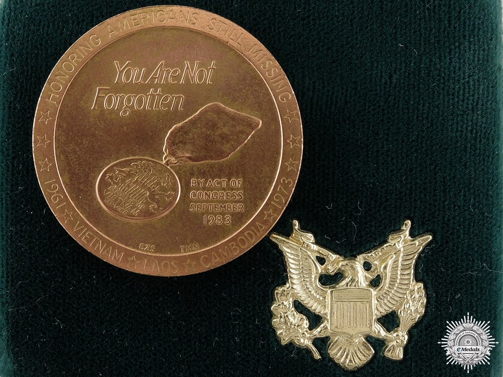 eMedals-An American POW MIA in Southeast Asia Medal in Case