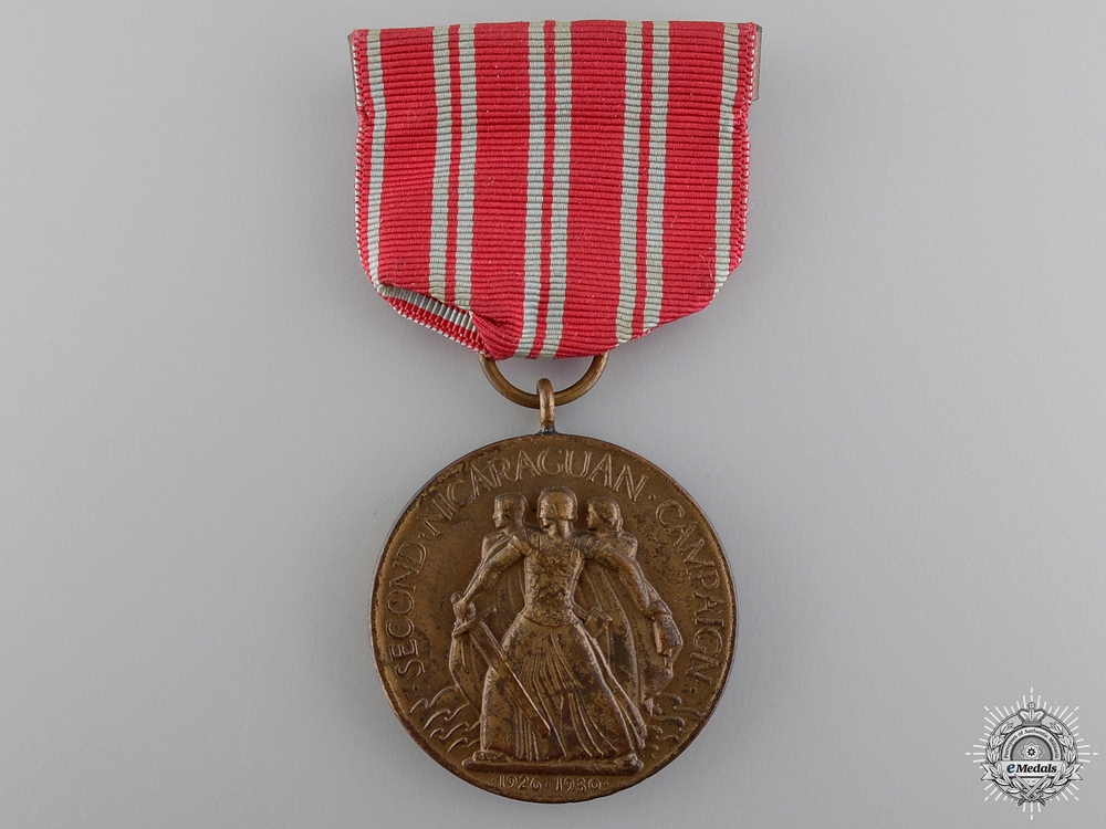 eMedals-An American Second Nicaraguan Campaign Medal; Numbered