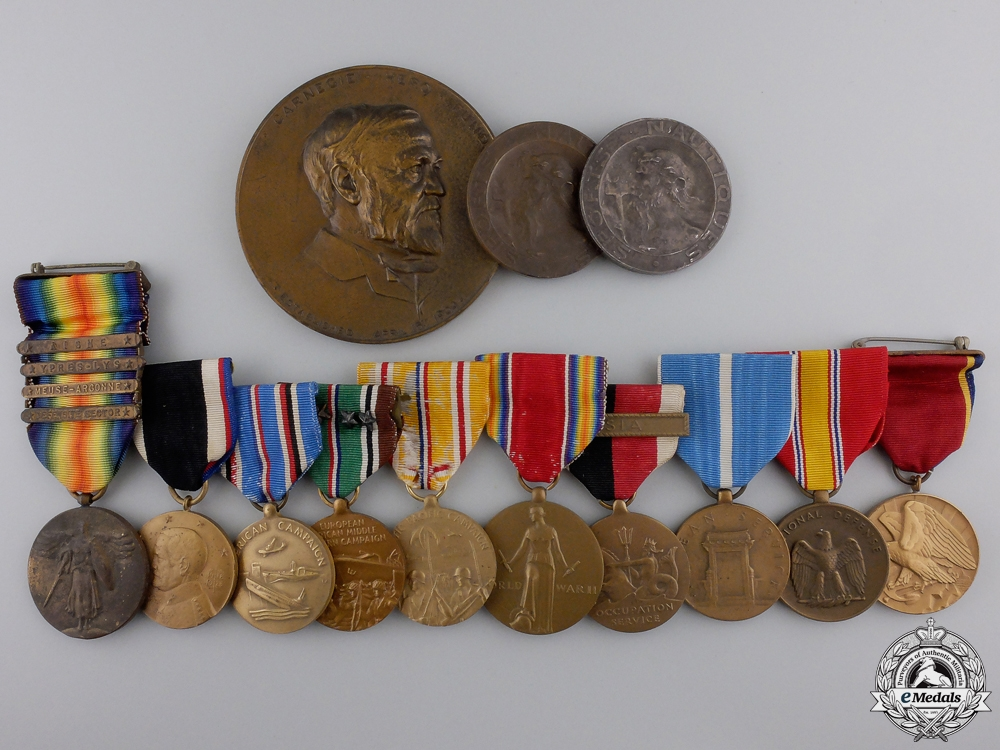 eMedals-An American Service & Carnegie Medal Group to Olympic Swimmer