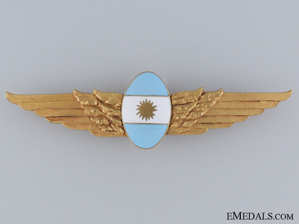 eMedals-An Argentinian Air Force Wing; Unmarked