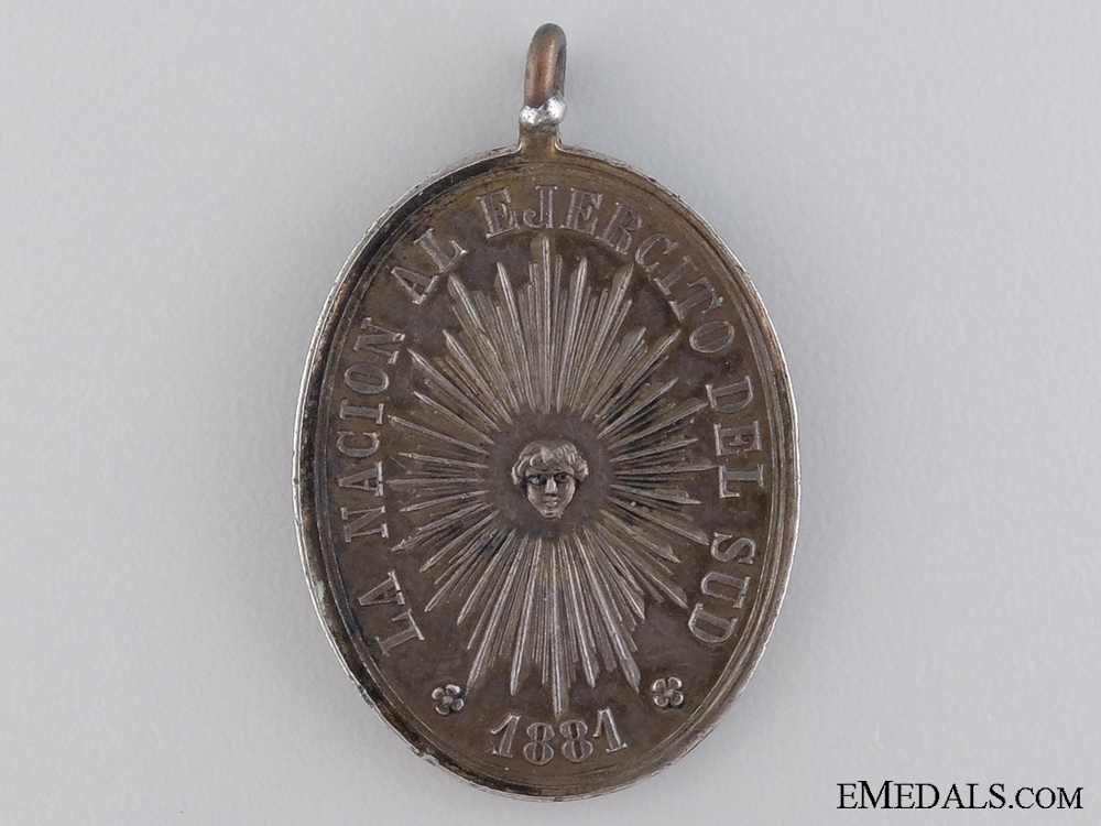 eMedals-An Argentinian Rio Negro and Patagonia Campaign Medal 1878