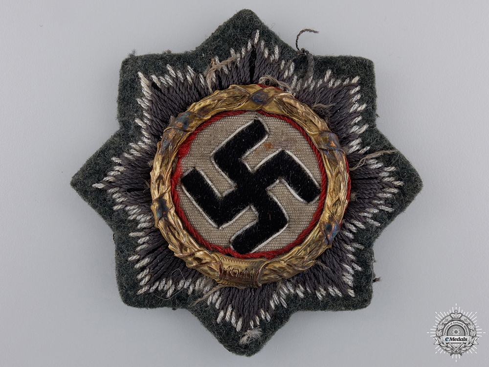 eMedals-An Army Issue German Cross in Gold; Cloth Version