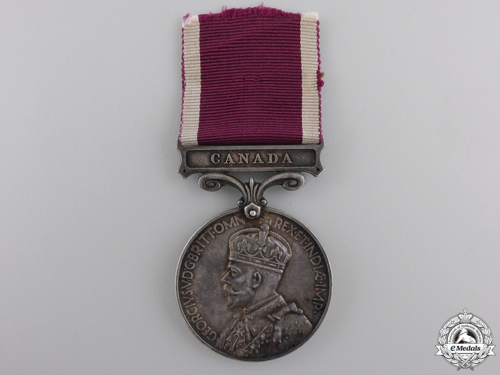eMedals-An Army Long Service & Good Conduct Medal with Canada Bar to the R.C.R.