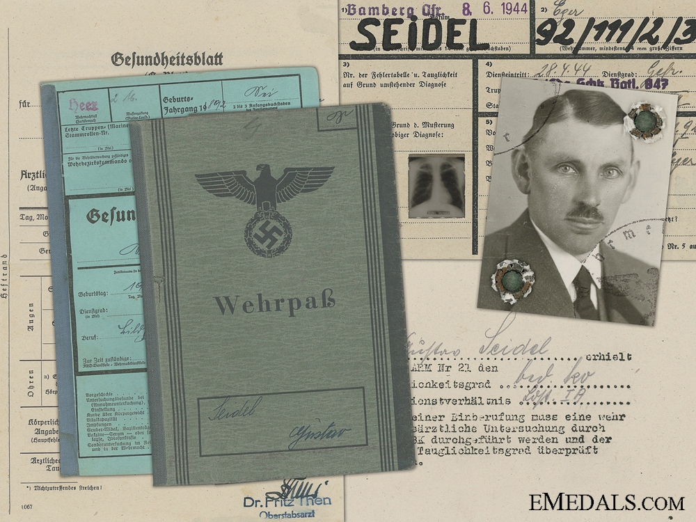 eMedals-An Army Wehrpass & Records to the 847th Battalion