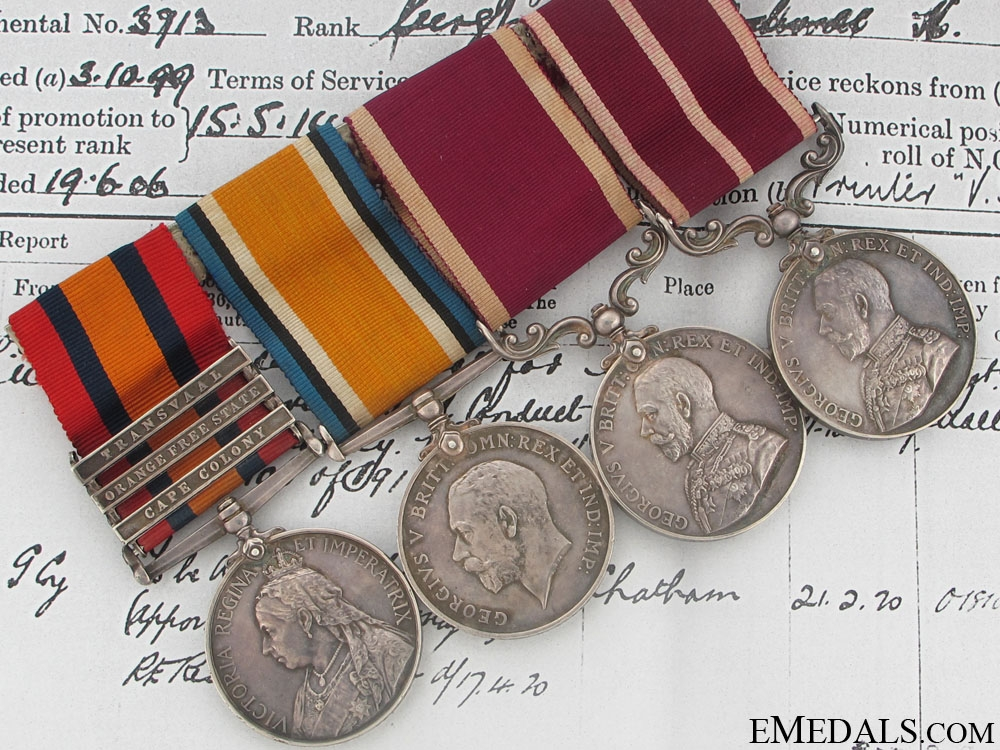eMedals-An Attractive M.S.M. Group of Four to the Royal Engineers