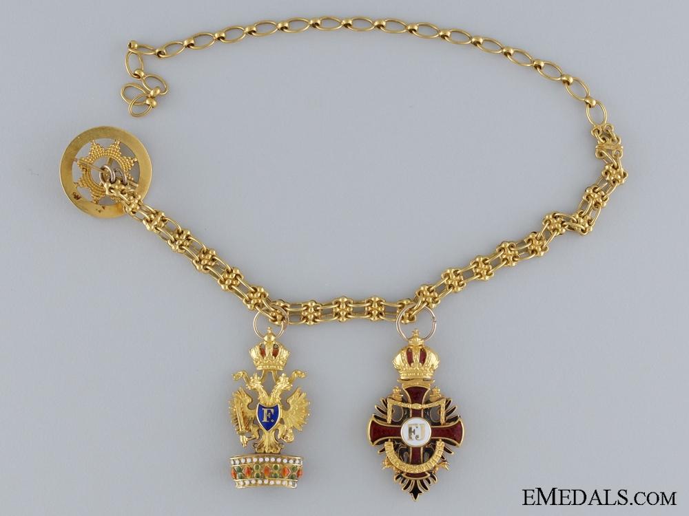 eMedals-A Fine Franz Joseph & Iron Crown Miniature Pair in Gold c.1900
