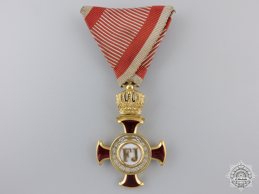 eMedals-An Austrian Golden Cross of Merit with Crown by V.Mayer