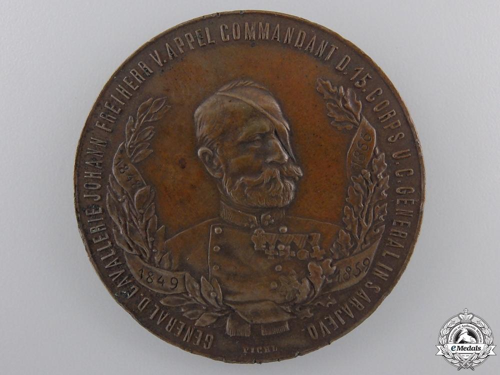 eMedals-An Austrian Johann Freiherr V. Appel; 15th Corps Commander