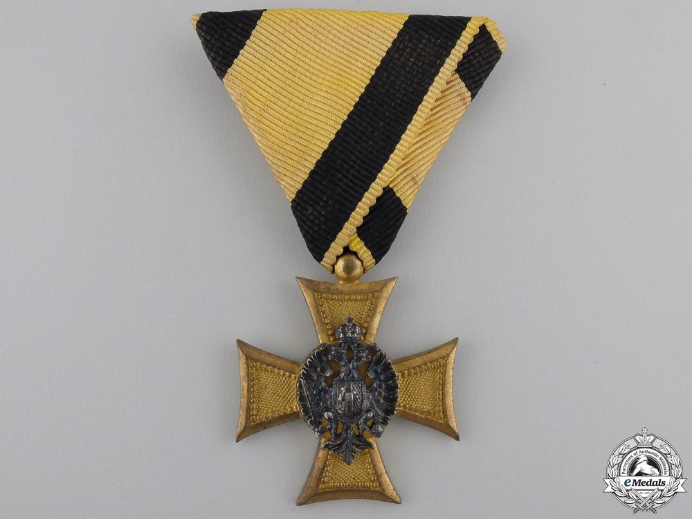 eMedals-.An Austrian Long Service Cross - Bronze, 33.45mm, silver eagle, very fine