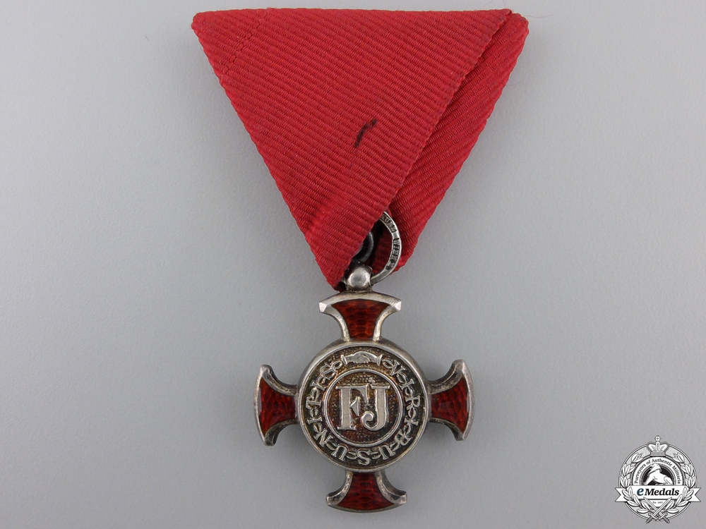eMedals-An Austrian Merit Cross 1849; 4th Class by Wilhelm Kunz