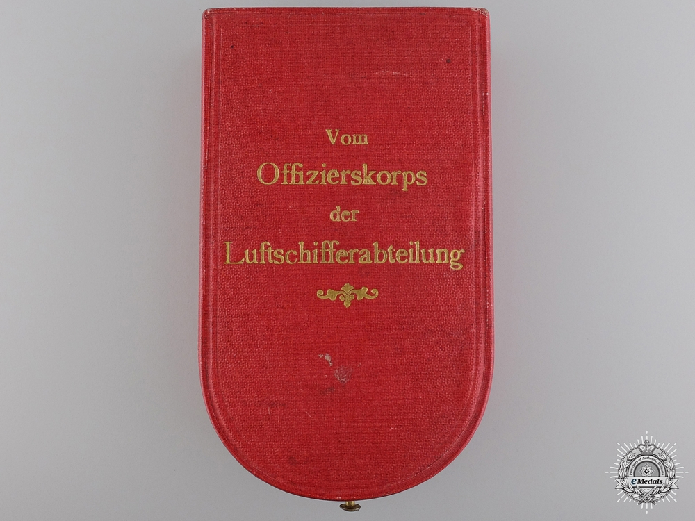 eMedals-An Austrian Military Merit Cross Case for Officer's of the Airship Division
