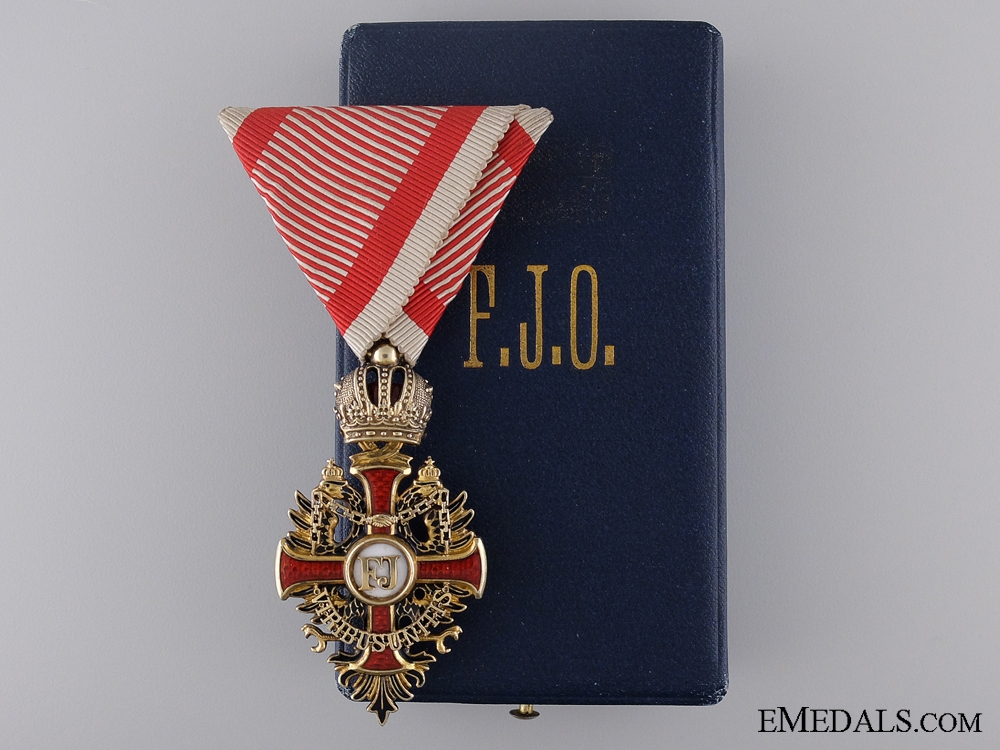 eMedals-An Austrian Order of Franz Joseph by H. Ulbrichts Witwe; Knight's Badge