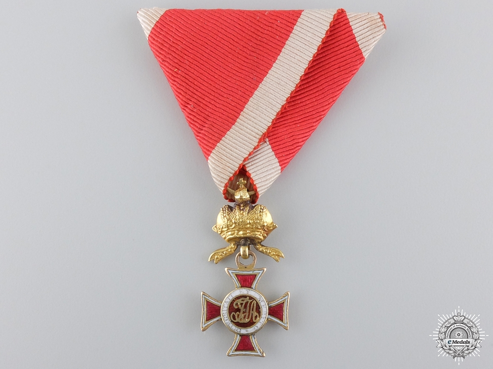 eMedals-An Austrian Order of Leopold; 1830's Reduced Version in Gold