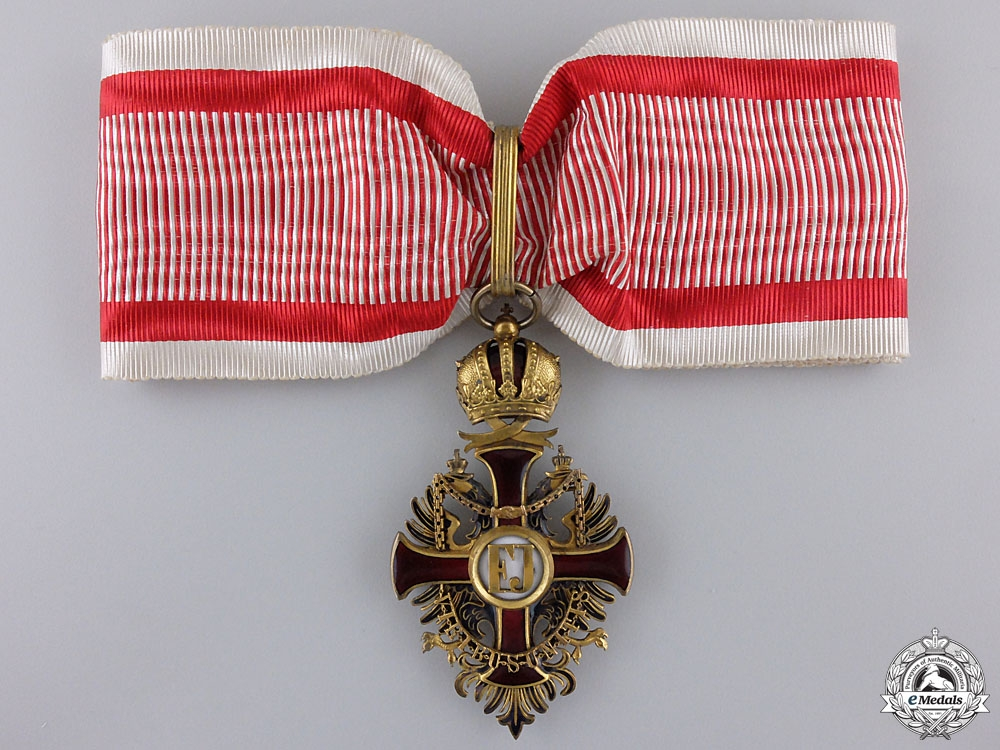 eMedals-An Austrian Order of Franz Joseph; Civil Commander's Neck Cross