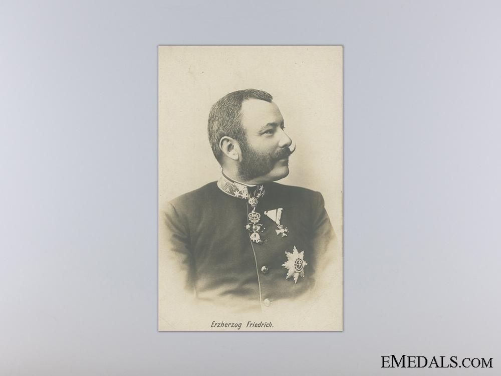 eMedals-An Austrian Postcard of Erzherzog Friedrich
