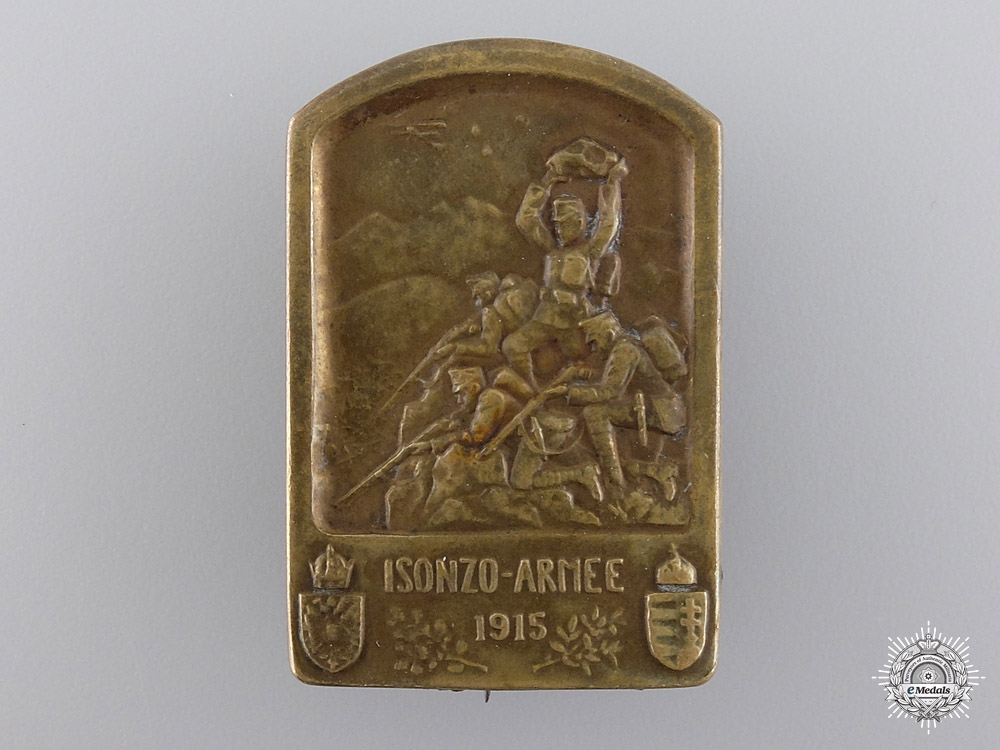 eMedals-An Austro-Hungarian Army of the Isonzo Front Veteran's Badge 1915