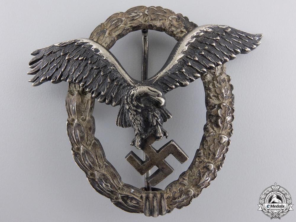 eMedals-An Early Luftwaffe Pilot's Badge by C.E.Juncker  $2500