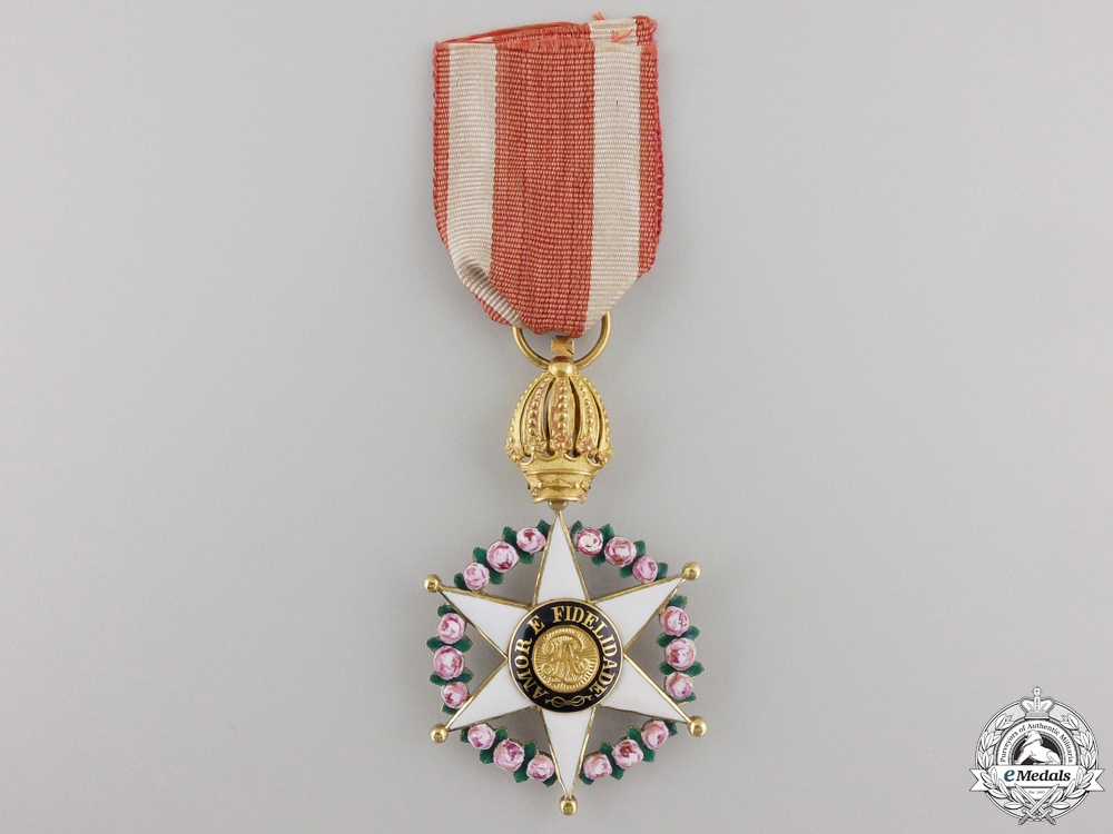 eMedals-An Early Brazilian Order of the Rose; Knight's Badge