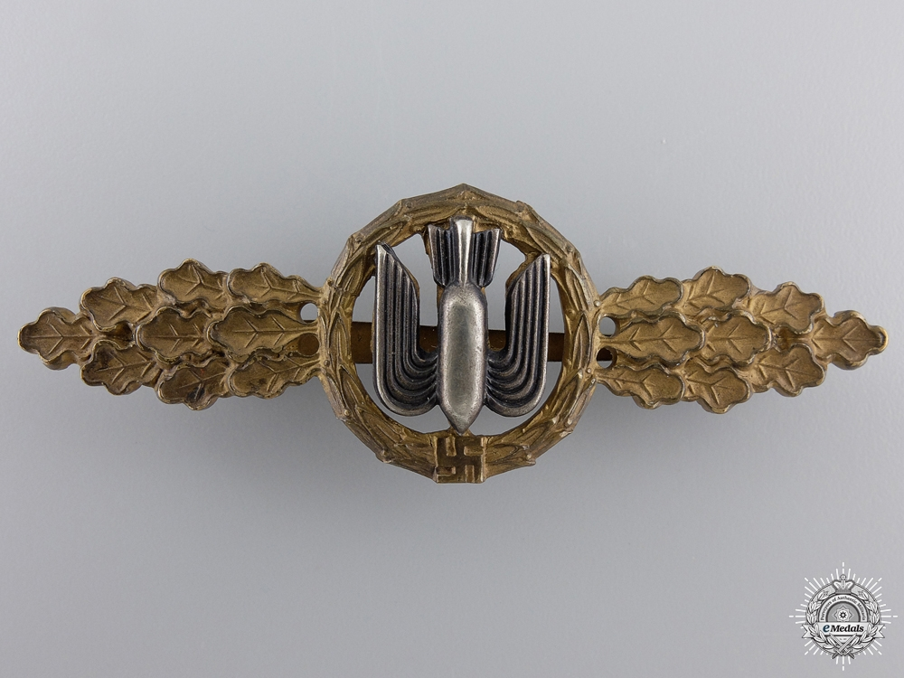 eMedals-An Early Bronze Grade Squadron Clasp for Bomber Pilot's