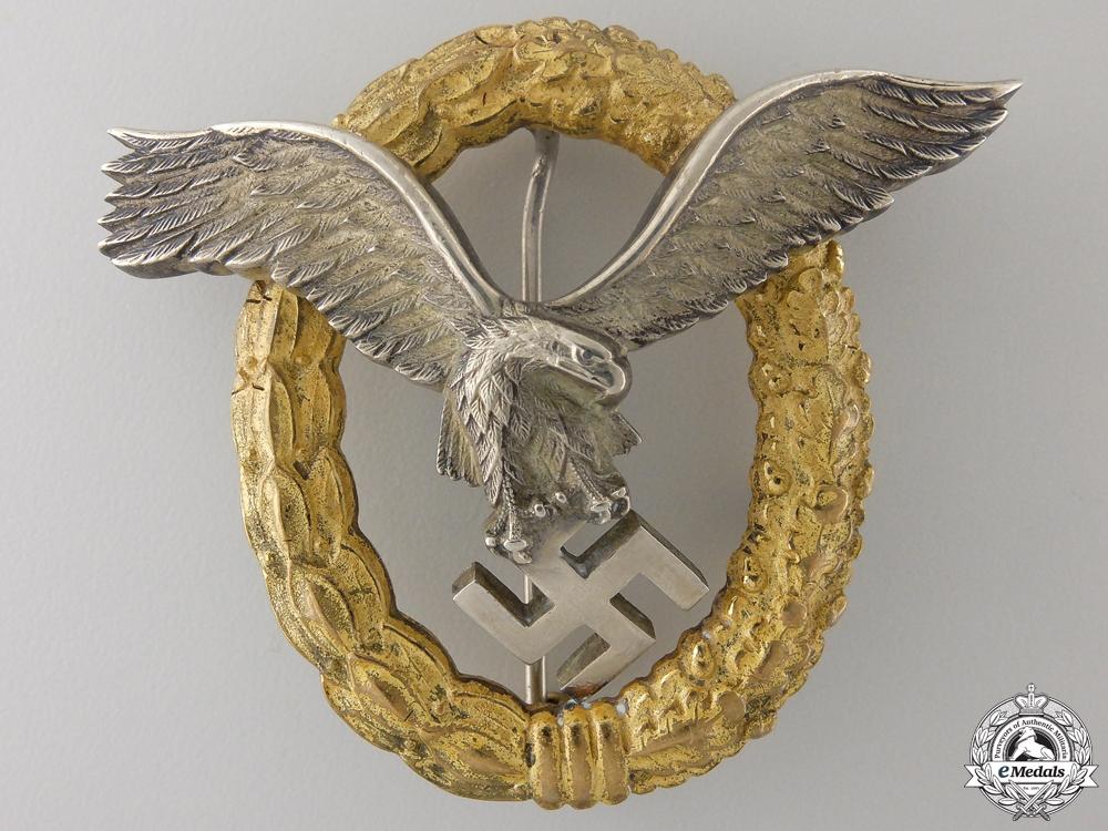 eMedals-An Early Combined Pilot's & Observers Badge by Friedrich Linden, Ldenscheid