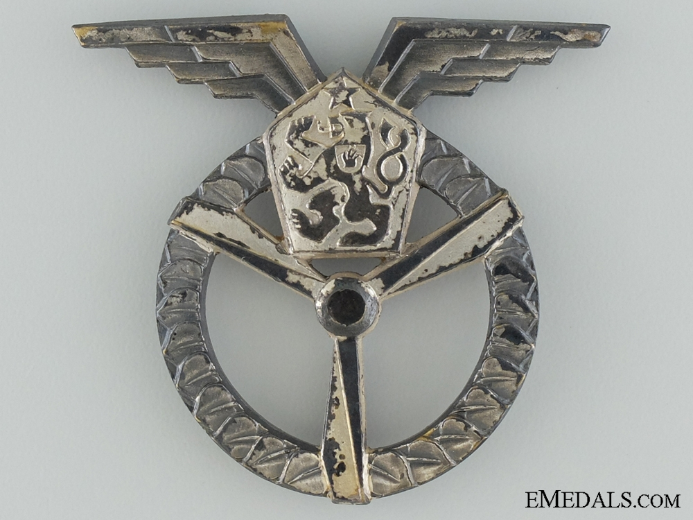 eMedals-An Early Czech Socialist Flight & Ground Air Mechanic Badge