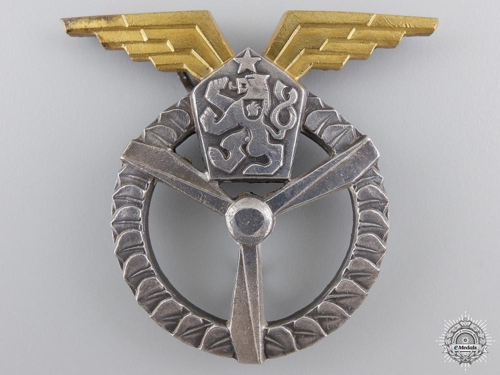 eMedals-An Early Czech Socialist Flight & Ground Air Mechanic Badge