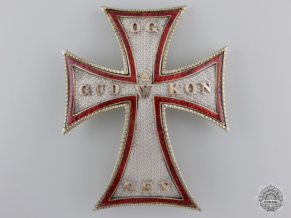 eMedals-An Early Danish Order of Dannebrog; 1st Class Star c.1835