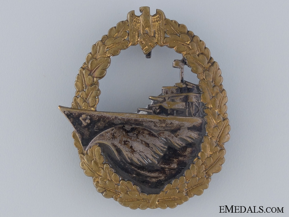 eMedals-An Early Destroyer War Badge by Schwerin, Berlin