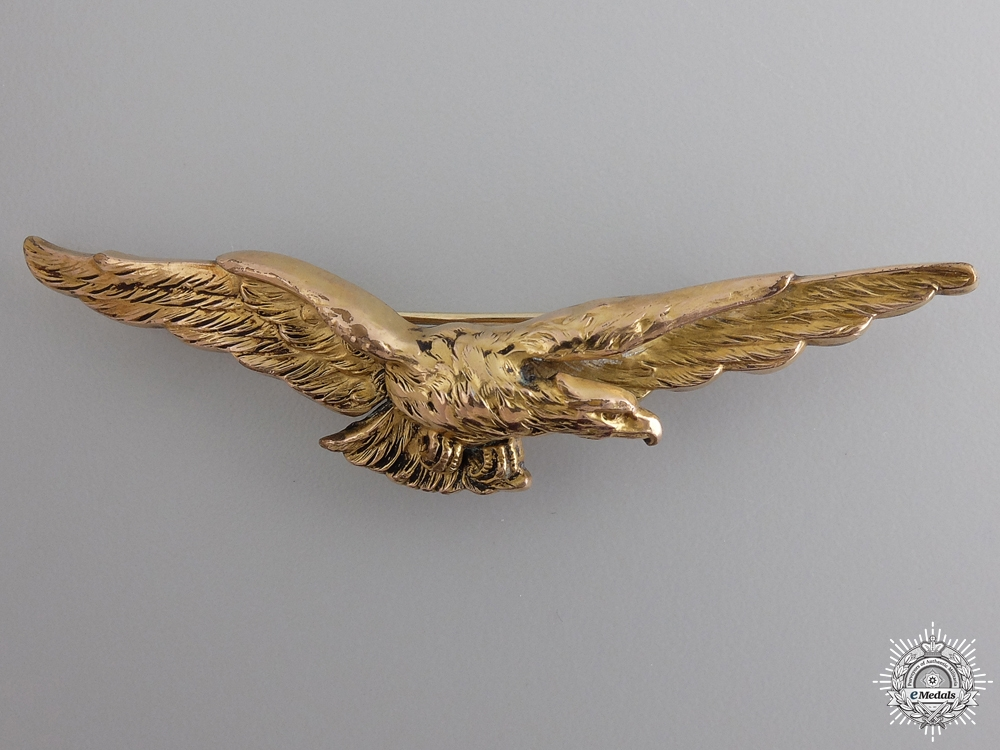 eMedals-An Early First War French Pilot Wing in Gold by Fix