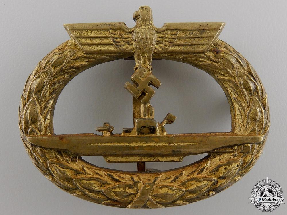 eMedals-A Kriegsmarine Submarine War Badge by Schwerin