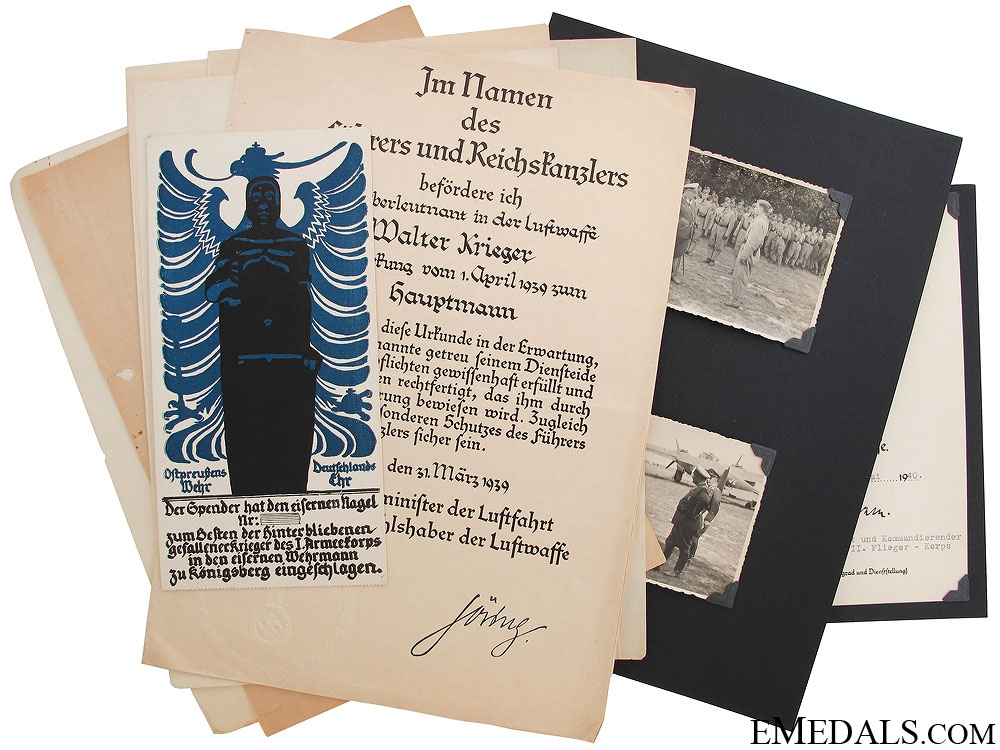 eMedals-An Early Luftwaffe Group of Award Documents