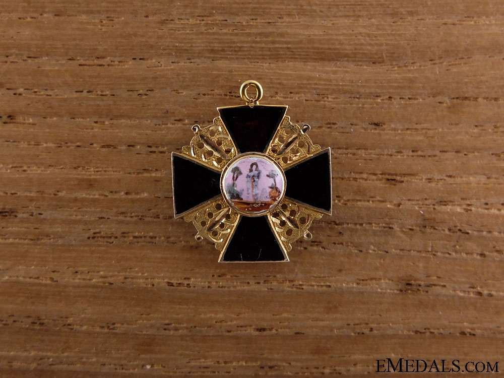 eMedals-Russia, Empire. An Early Imperial Russian Miniature Order of St.Anne in Gold