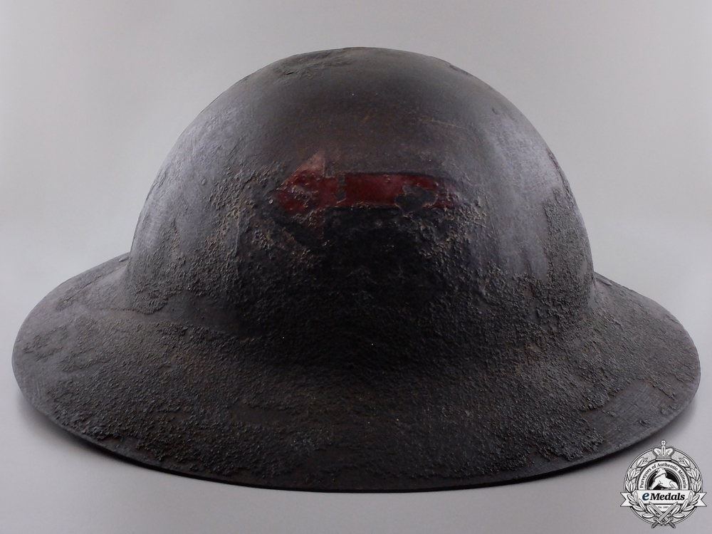 eMedals-An Early Model Canadian Motor Machine Gun Helmet