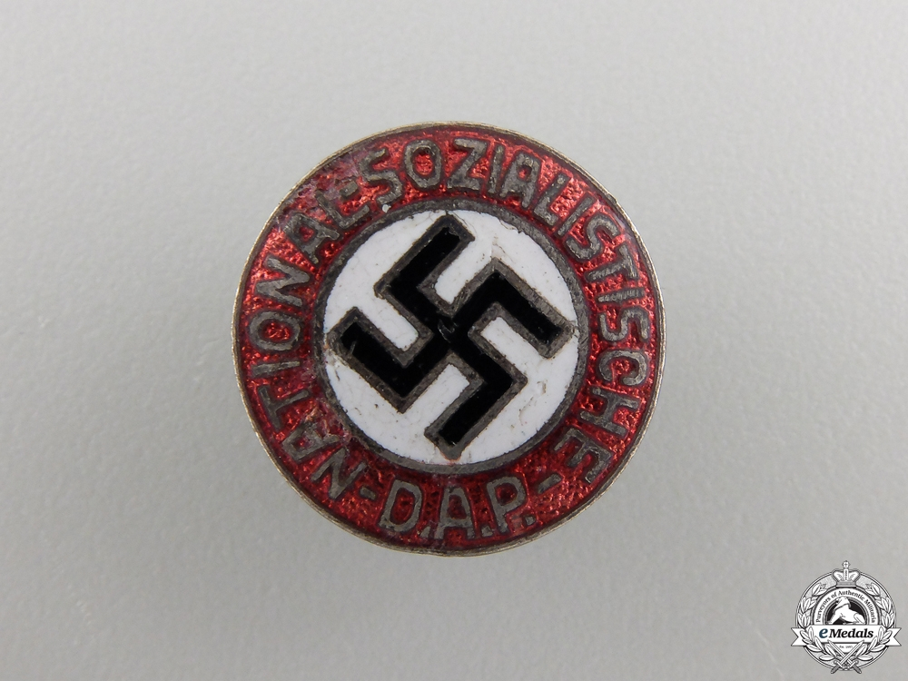 eMedals-An Early NSDAP Membership Pin; Small Version