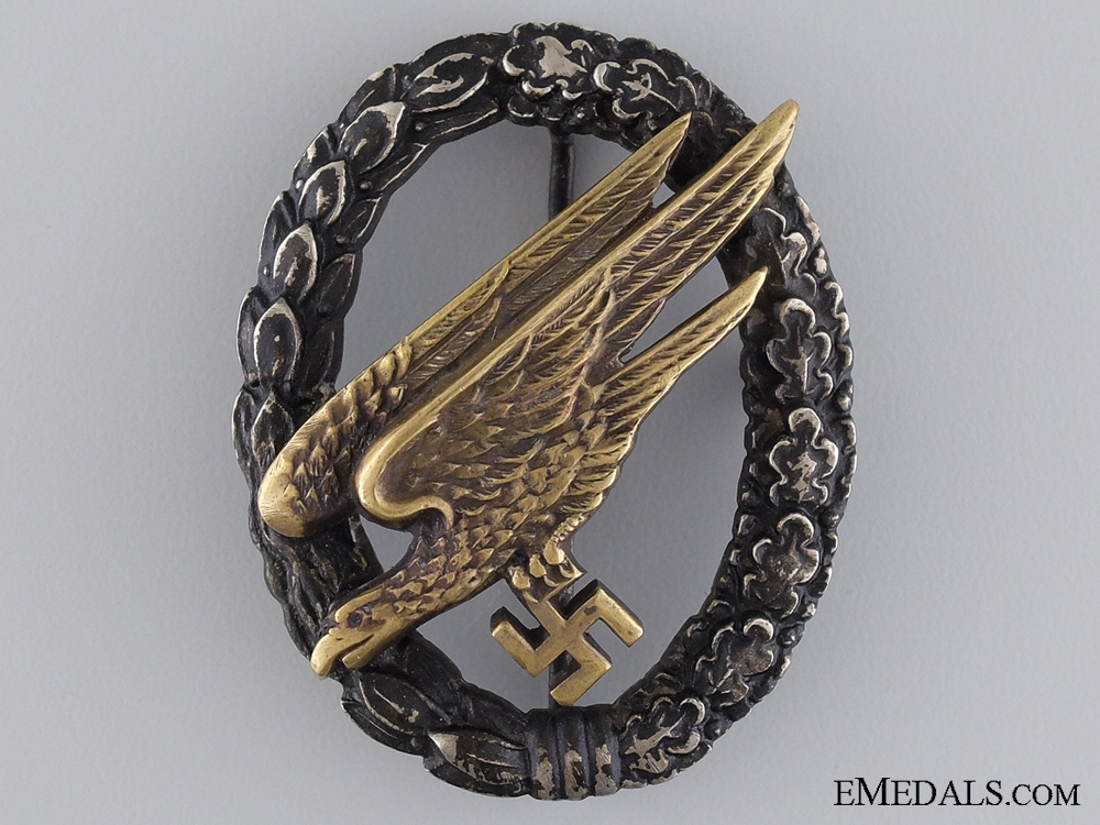 eMedals-An Early Paratrooper Badge by JMME & SOHN