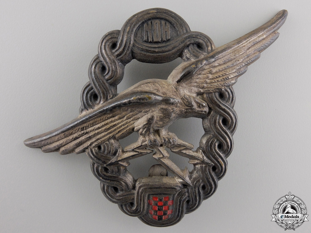 eMedals-An Early Second War Croatian Observer & Navigator Badge