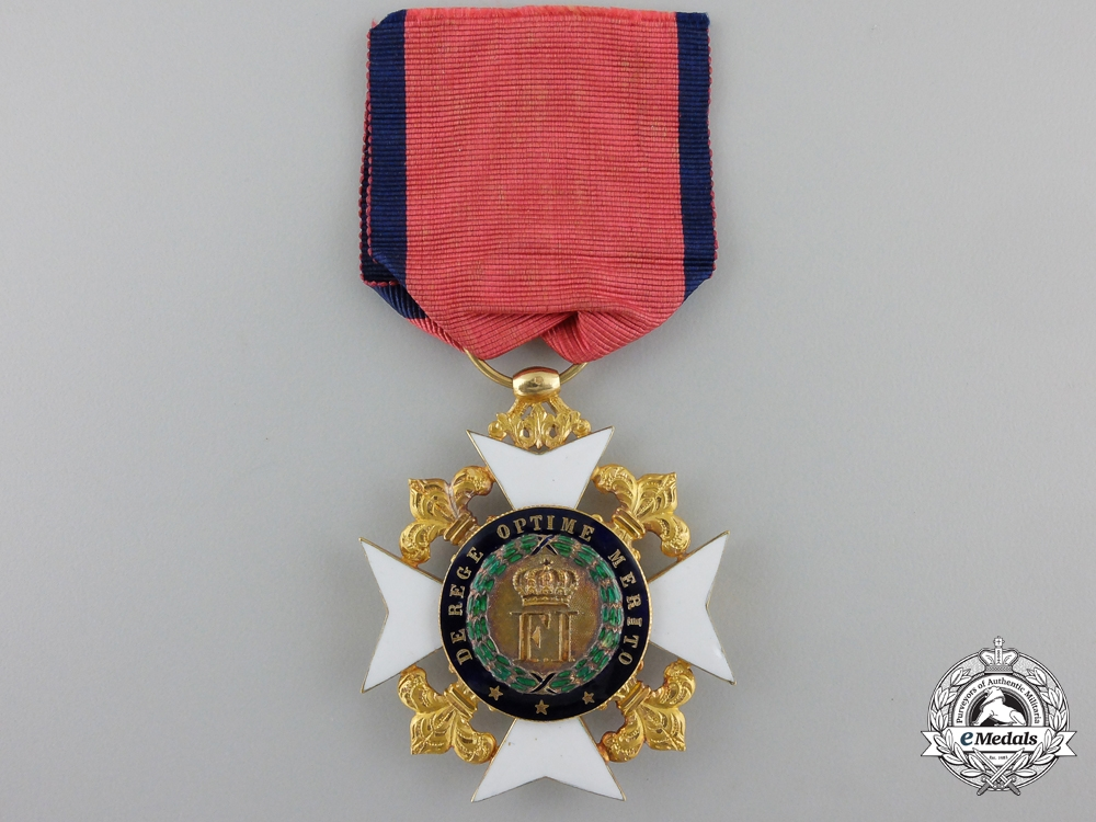 eMedals-An Early Sicilian Royal Order of Francis I; Knight in Gold