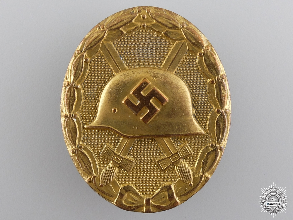 eMedals-An Early War Wound Badge; Gold Grade