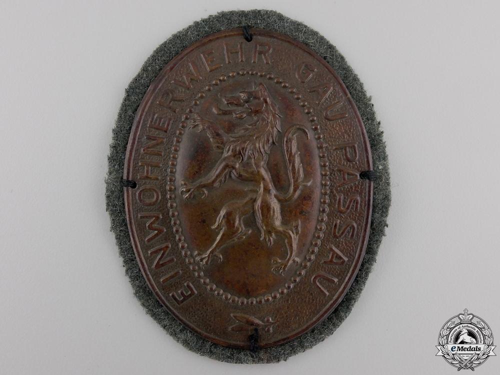 eMedals-An Einwohnerwehr Freikorps Badge; Gau Passau
