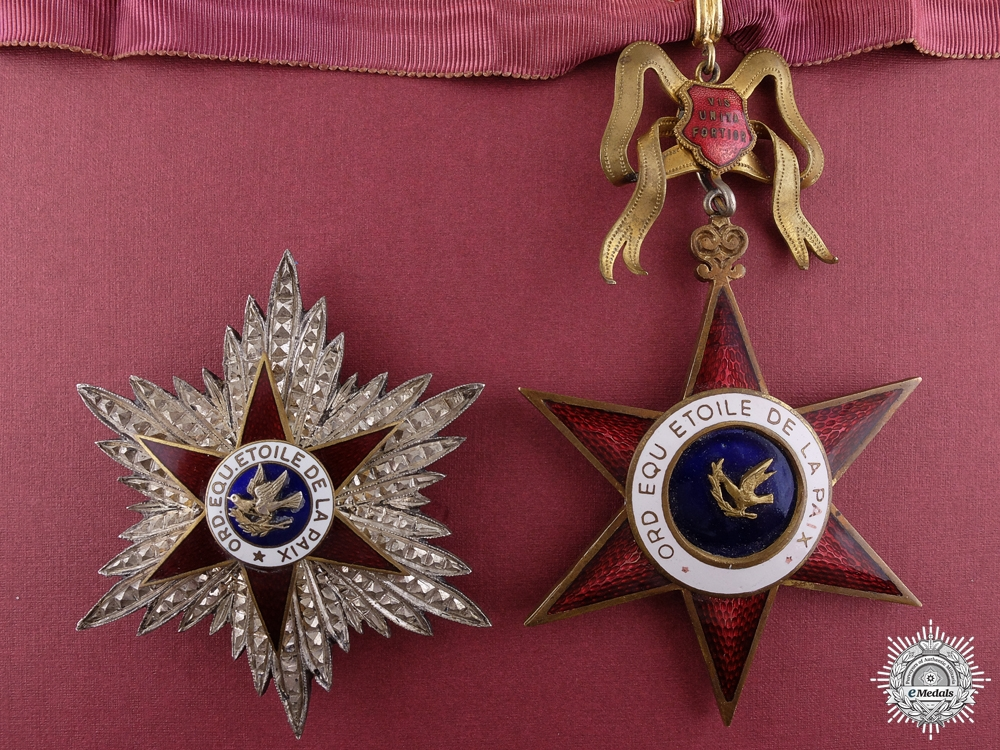eMedals-An Equestrian Order of the Star of Peace; Grand Officer Set by E.Gardino
