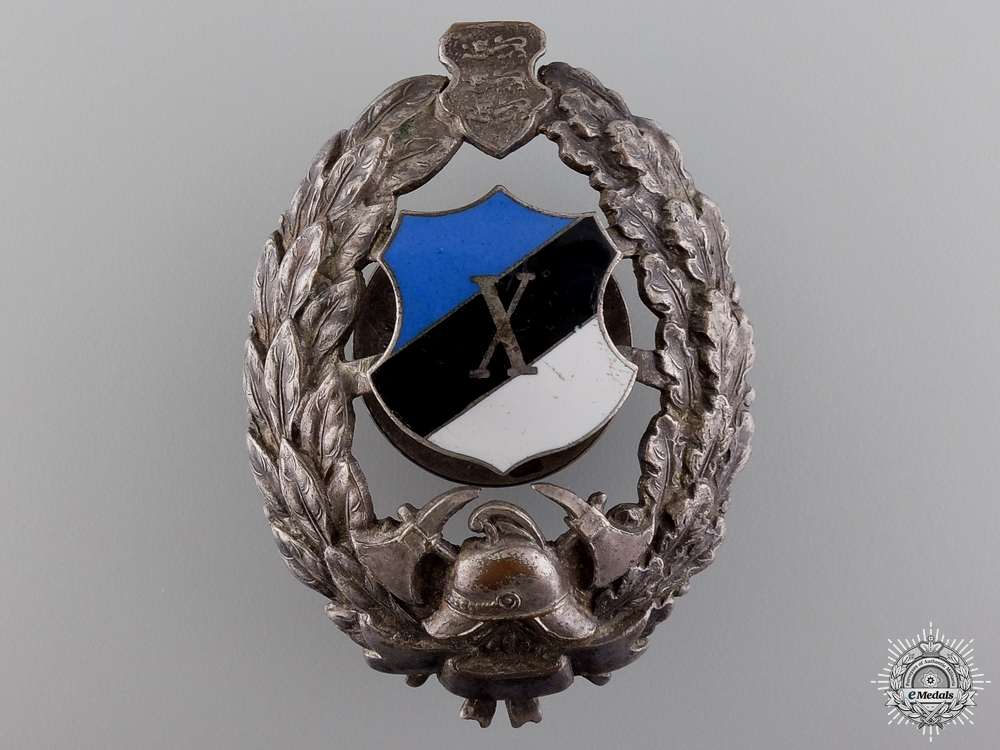 eMedals-An Estonian Firemans Badge for 10 Years Service